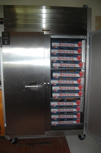 This new commercial fridge was purchased with the help of grant money from the Red Ants Pants (RAP)  Foundation.